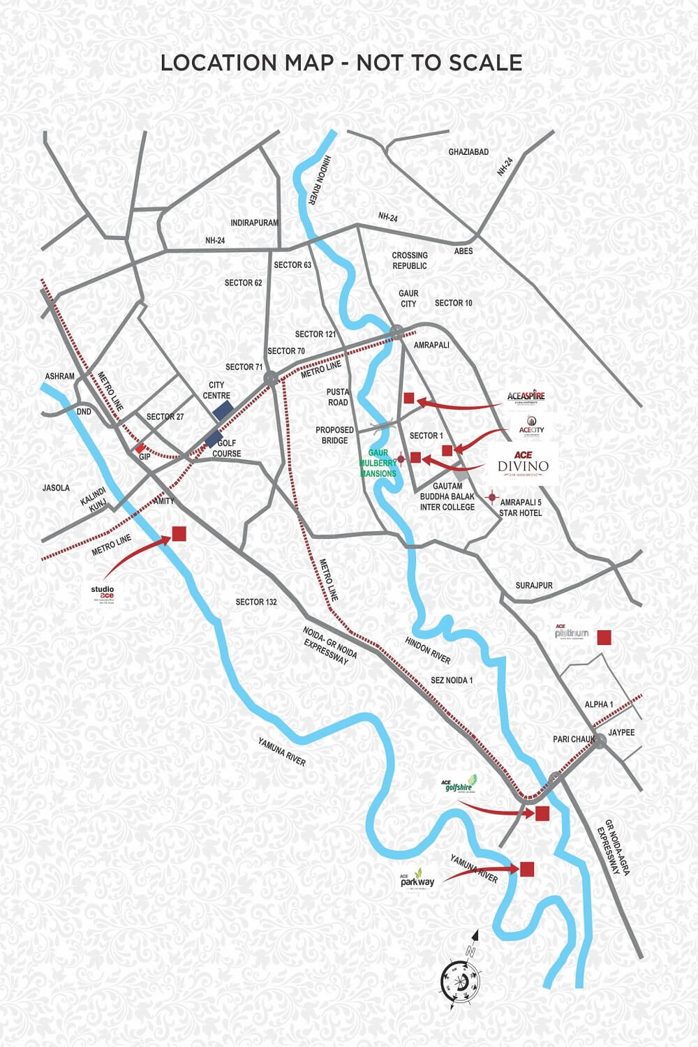 ACE Divino Greater Noida Location Map